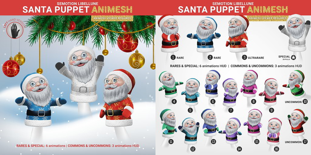 SEmotion Libellune Santa Puppet Animesh