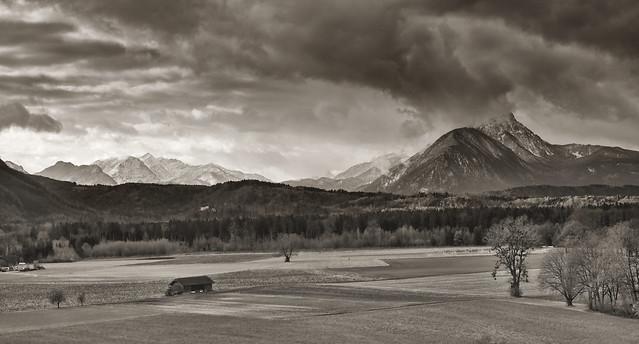 Blick vom Hellbrunner Berg