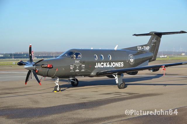 Black Bird Air Charter Pilatus PC12/47E (OY-THP) at Lelystad Airport