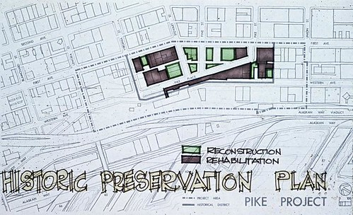 Pike Place Market historic preservation Plan map, 1972