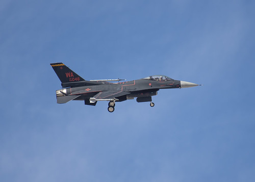 Black and Red F-16 Aggressor