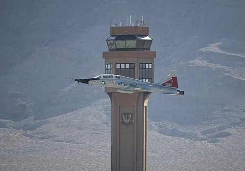 T-38 Talon in front of the Tower