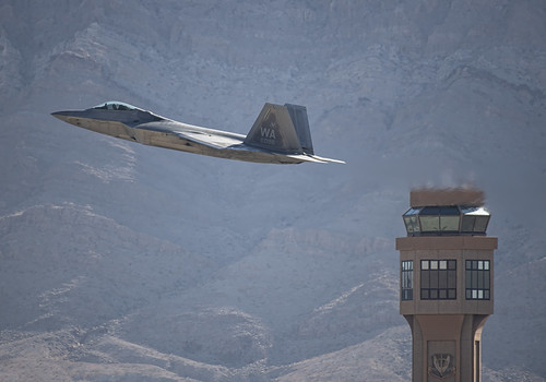F-22 Raptor Past the Control Tower