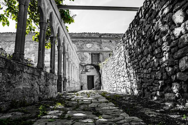En el castillo de Morella.