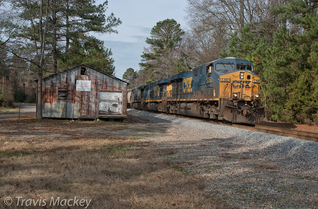 CSX Q583-09 at the old SAL Freight Depot in Wadesboro