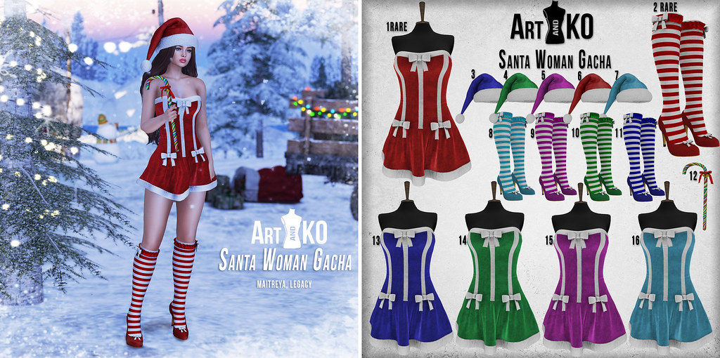 Art&KO – Santa Woman  GACHA – Winter Spirit