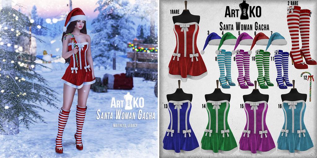 Art&KO – Santa Woman  GACHA – Winter Spirit