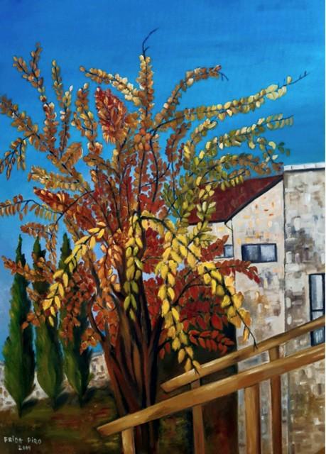 פרידה פירו Frida piro הציירת האמנית הישראלית העכשווית המודרנית הריאליסטית הירושלמית ציירות אמניות ציורי נופים