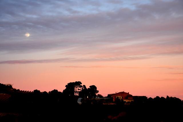 Posta de sol de Tardor, Can Cruset, Torrelles de Foix,