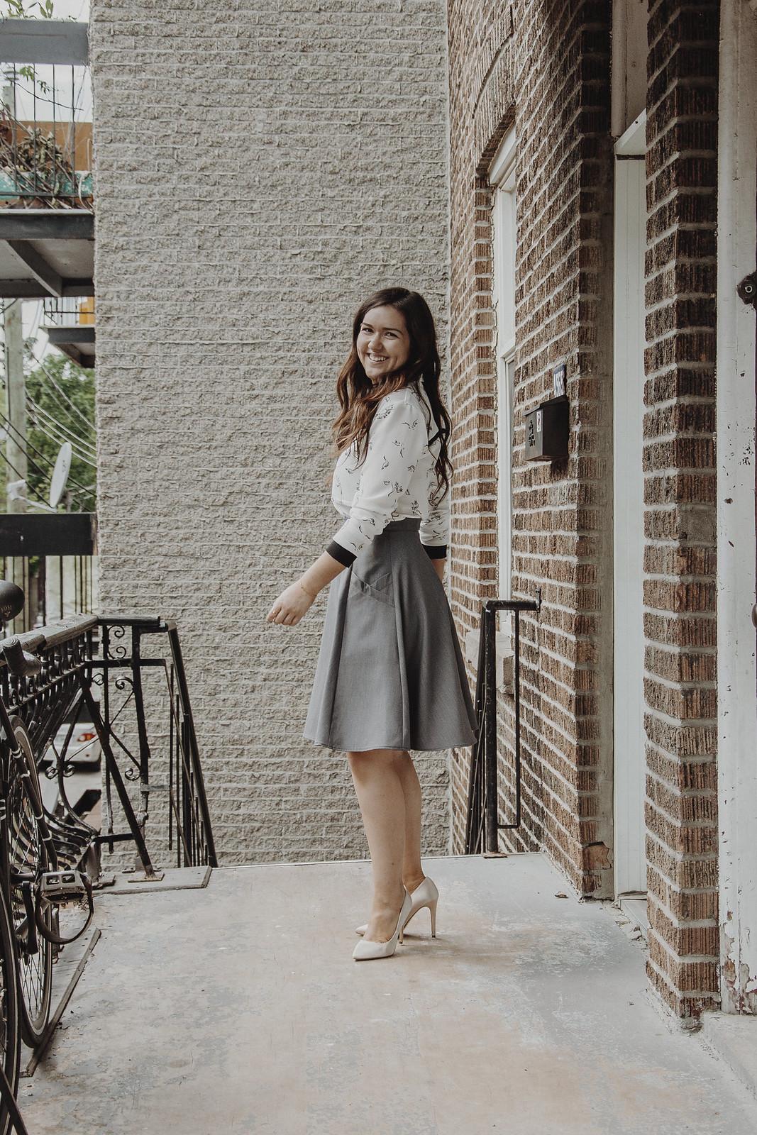 marie-chloé falardeau jupe grise marilou design