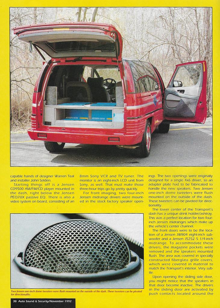 Jensen Inc   Earl Dozier - 1991 Pontiac Transport Se