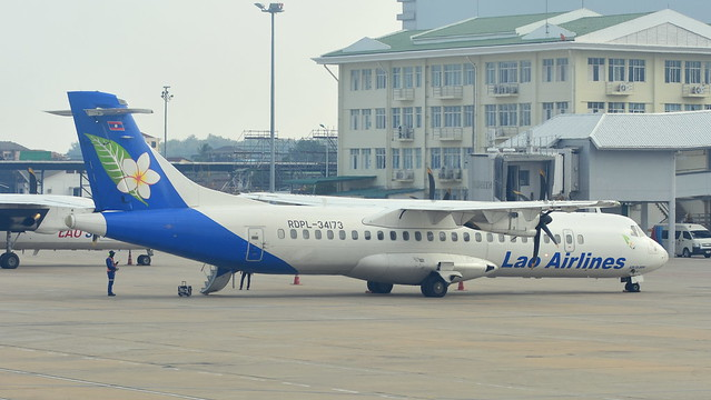 ATR.72-212A c/n 870 Lao Airlines registration RDPL-34173