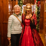 Christmas decorations and costumes at Lanhydrock House, Cornwall