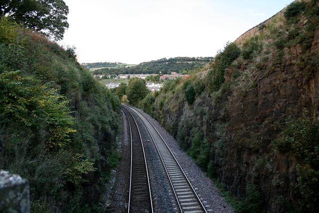 The railway line near Burntisland