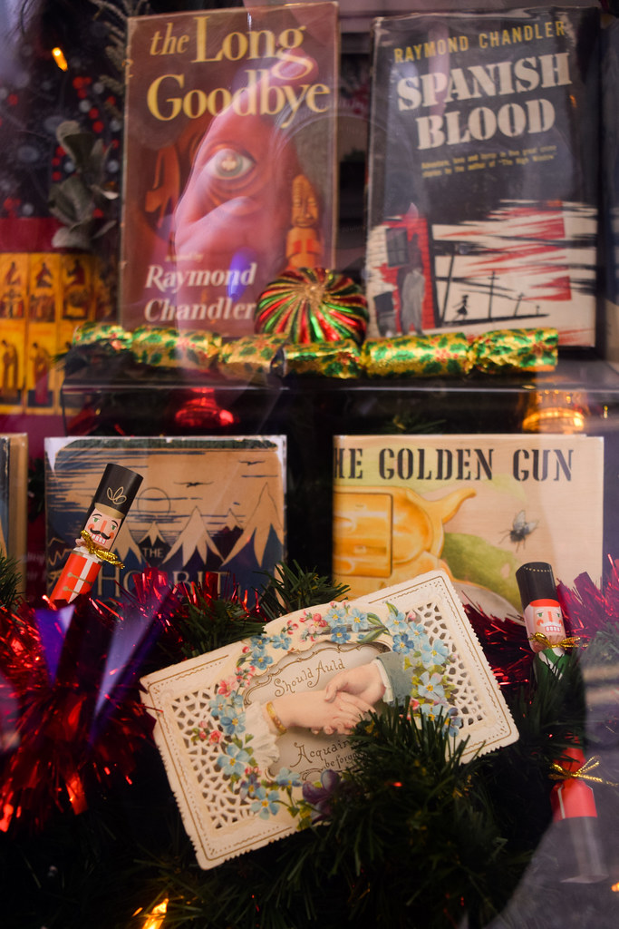 Chaucer Bookshop Christmas Window Canterbury