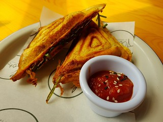 Smokey Jackfruit Jaffle at Flora by Greenhouse