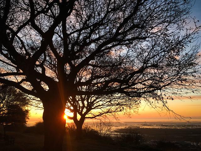 Sun's up over Belton Hills.