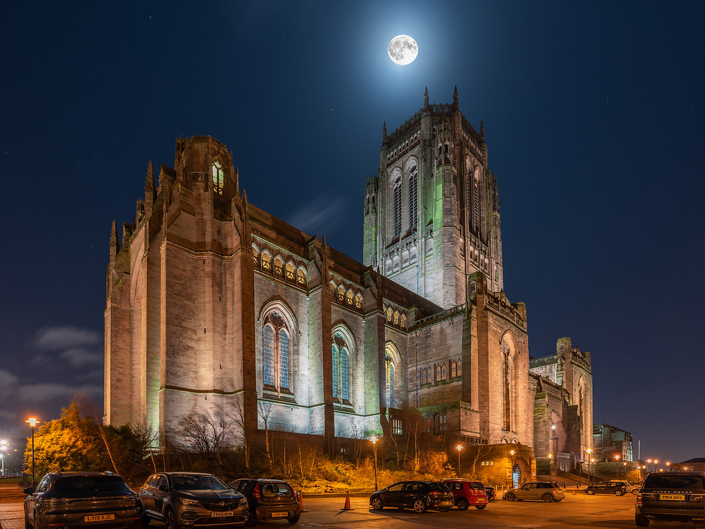 Moonlight over Liverpool Cathedral