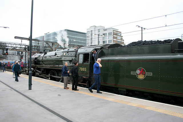 Steam train at London Kings Cross station