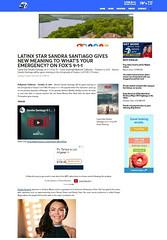 LATINX STAR SANDRA SANTIAGO 911 ON FOX BY ABC7 NEWS