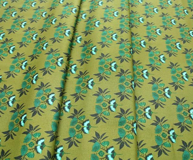 Cloud9 Fabrics Forest Jewels 222501 Emerald Stems