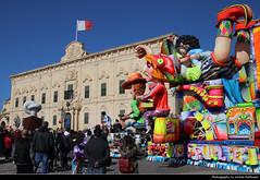 Auberge de Castille & Maltese Carnival Truck, Valletta, Malta