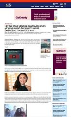 LATINX STAR SANDRA SANTIAGO 911 ON FOX  BY ABC6 NEWS_