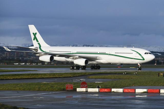 9H-BIG Airbus A340-312 EGPF 16-03-19