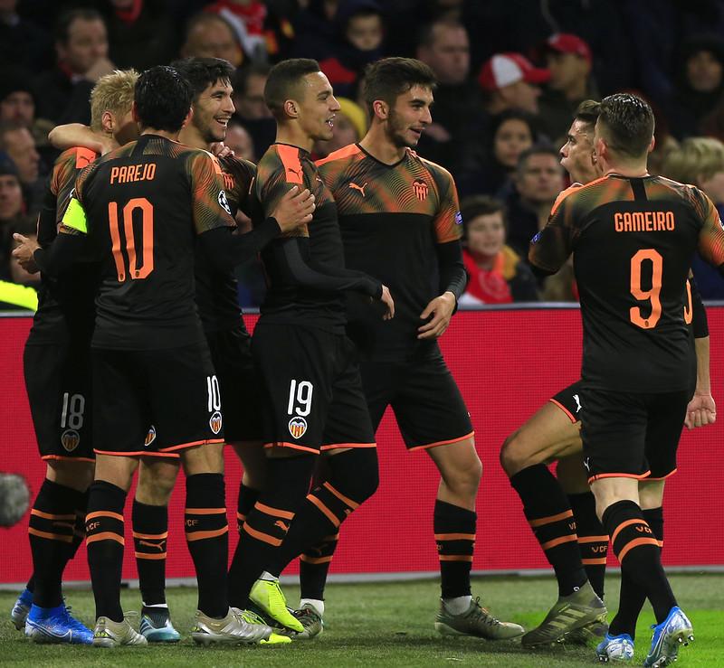 瓦倫西亞慶祝進球。(達志影像)