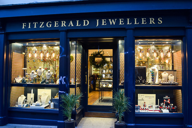 Fitzgereld Jewellery Canterbury Christmas Window 2019
