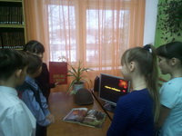 """В библиотеке МБОУ """"СОШ №1"""" УК 2 прошло мероприятие, посвященное годовщине Битвы под Москвой"""