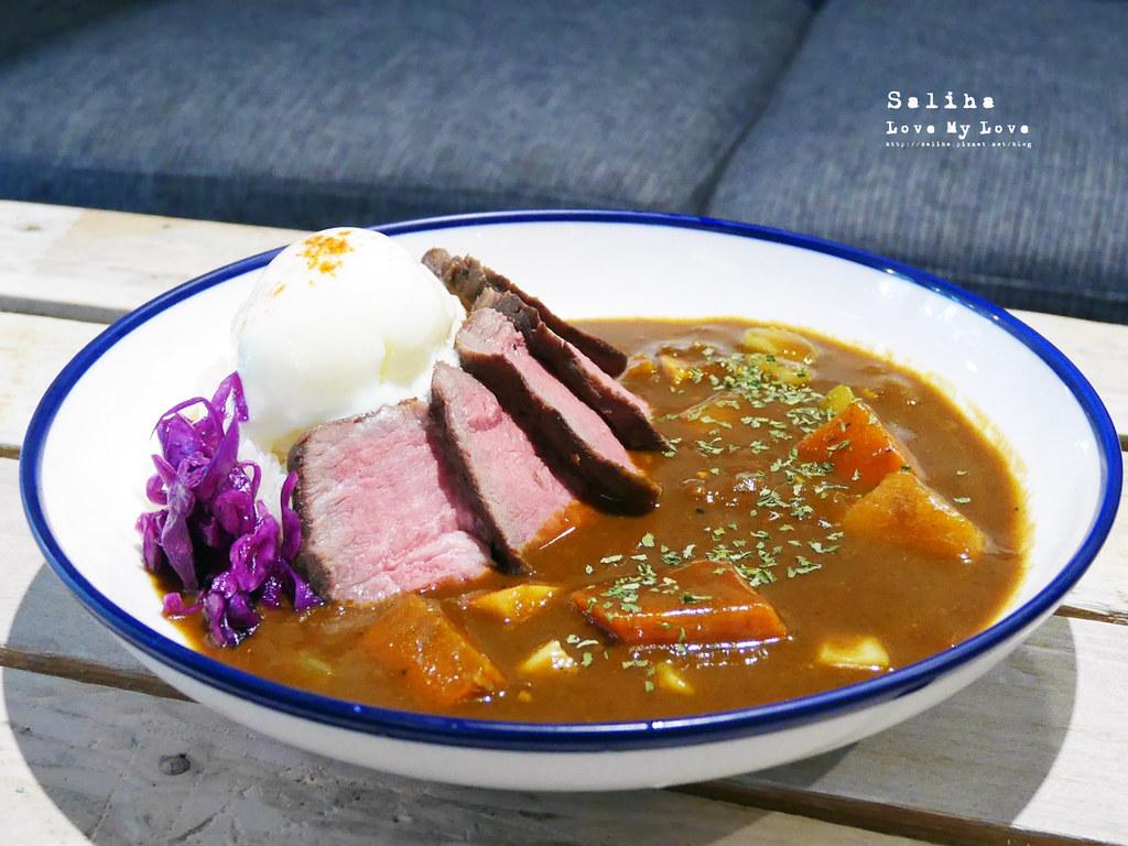 台北六張犁咖啡廳美食休習日Z Day Cafe咖哩牛排飯好吃餐點下午茶甜點 (1)