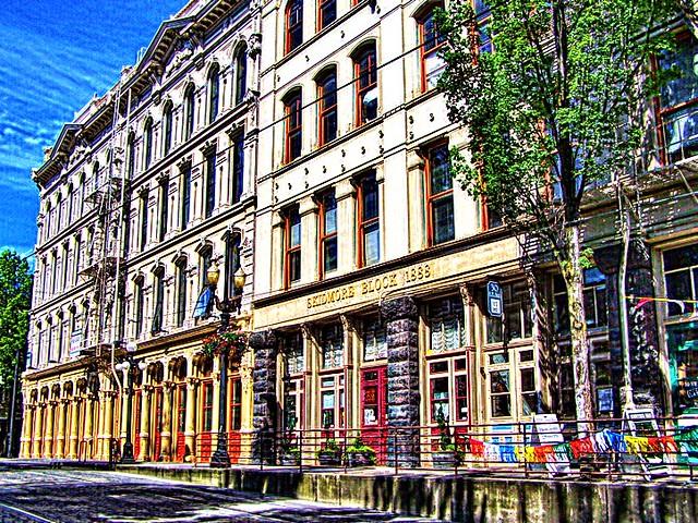 Portland Oregon - Skidmore Block - Blagen Block -  Cast Iron Block  - Cast Iron Buildings