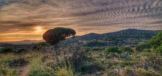 Posta de sol a Badalona