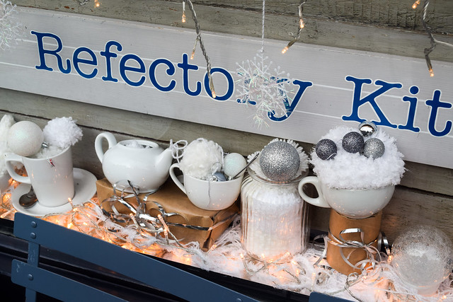 Refectory Kitchen Judging Canterbury Christmas Window 2019