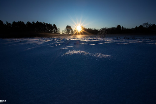 sunrise snow starburst new england