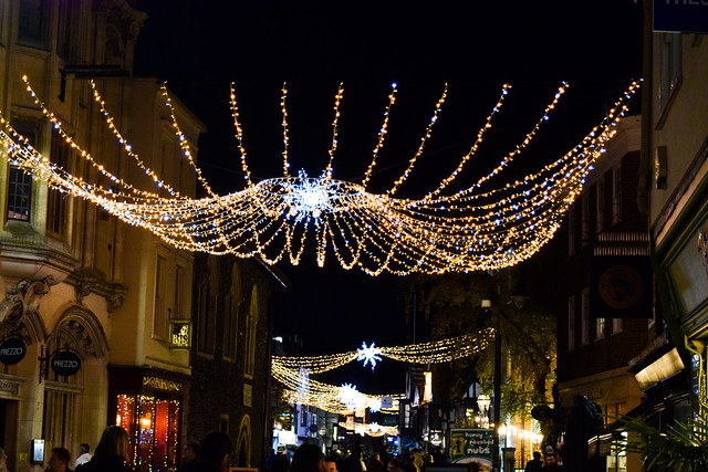 Canterbury High Street Christmas Lights