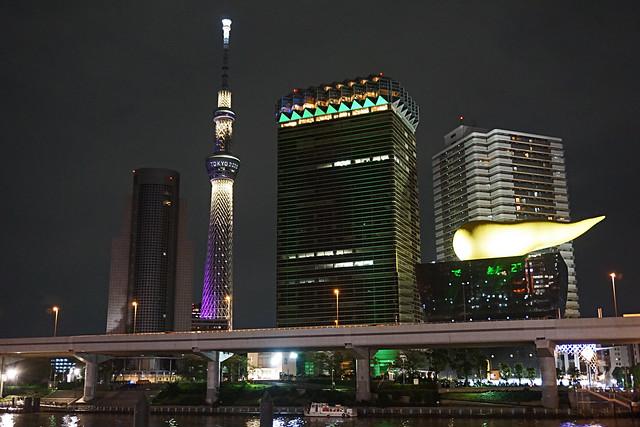 Tokyo Skytree, Asahi Beer Hall and Golden Flame