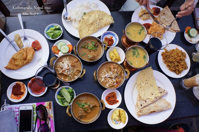 2014 Nepal Kathmandu Boudhanath Stupa Lunch