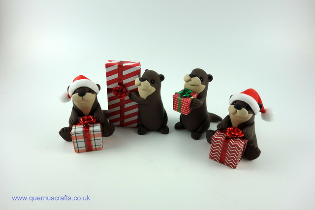 Little Otters with Gifts