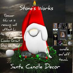 Santa Candle Resizer Stone's Works