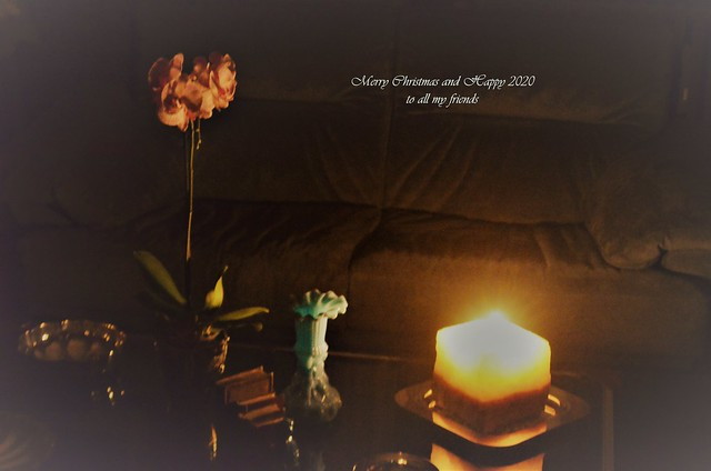 Greetings - Candle light scenery