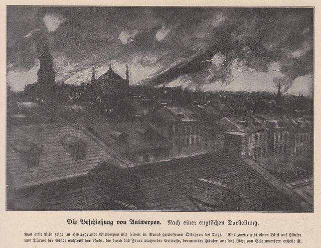 Antwerp is burning WWI