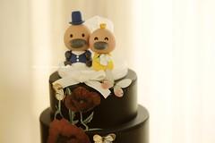 Handmade platypus bride and groom  Wedding Cake Topper, custom animals wedding cake decoration ideas