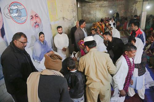 Devotees seeking blessings at Sadabad