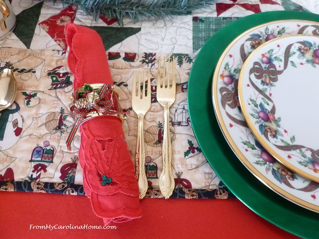 Christmas Tablescape at FromMyCarolinaHome.com