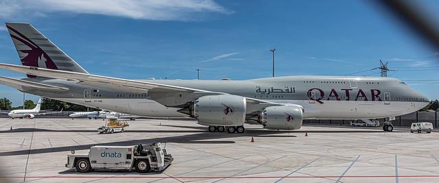GVA LSGG / Qatar Amiri Flight / Boeing B747-8KB(BBJ) / A7-HHE