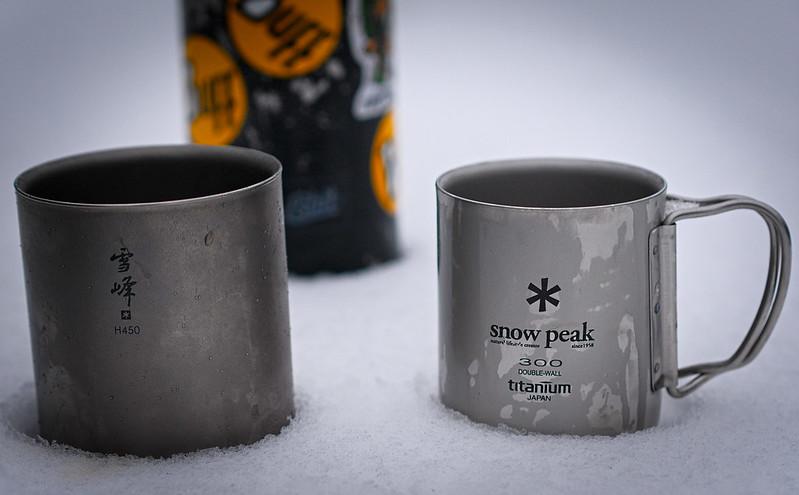 Tytanowy kubek Snow Peak test