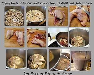 Cómo hacer Pollo Coquelet con Crema de Avellanas paso a paso