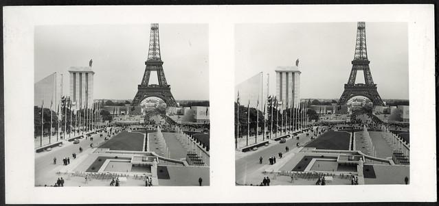 Archiv U731 Eiffelturm und Deutsches Haus, Paris, Frankreich, 1937